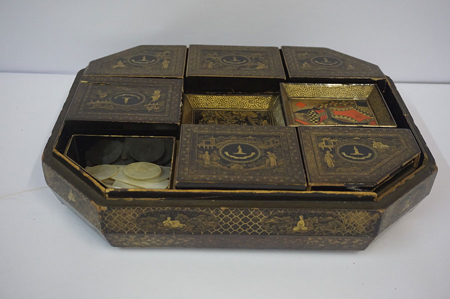 Japanese Export Lacquered Work Box